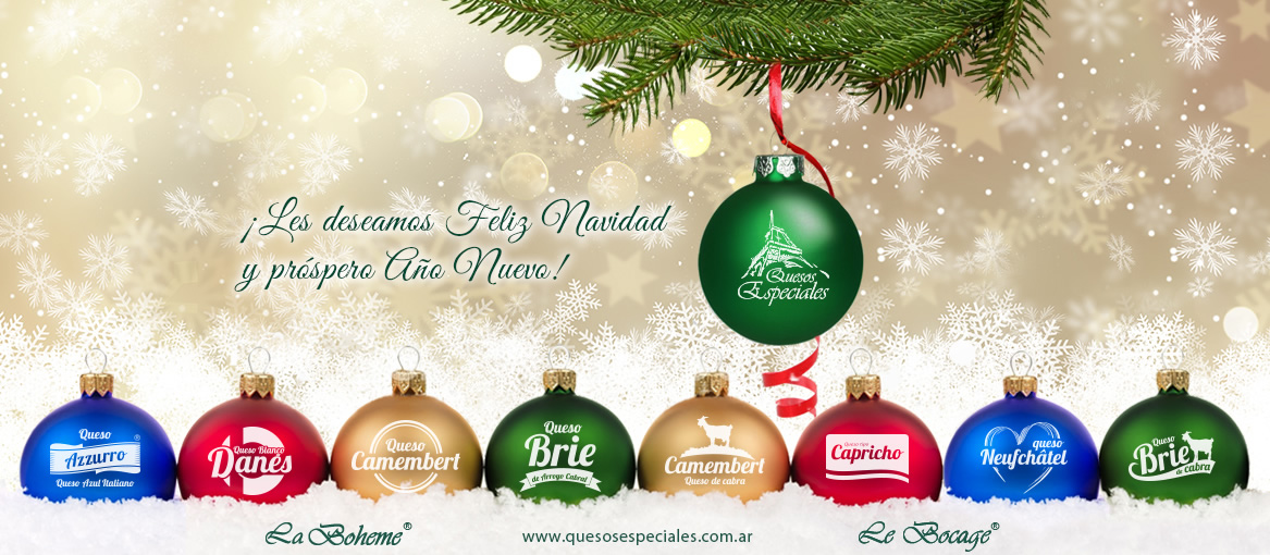We wish you Merry Christmas and Prosperous New Year!, Quesos ...